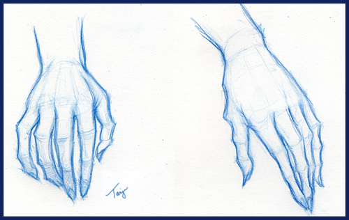 "Since I tend to have a bit of a problem drawing ""realistic"" hands,"